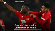 Pogba's brace helps United win at home
