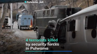 Pulwama encounter: 4 terrorists killed, 16 civilians hurt