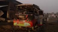 औरंगाबाद में नक्सलियों का हमला, एक शख्स की हत्या की, कई गाड़ियां फूंकी