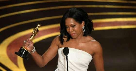 Regina King wins Oscar for best supporting actress for If Beale Street Could Talk