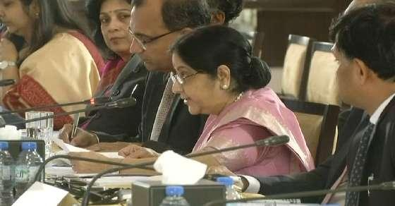 Sushma leaves for Abu Dhabi to attend OIC meet, Pak stays away