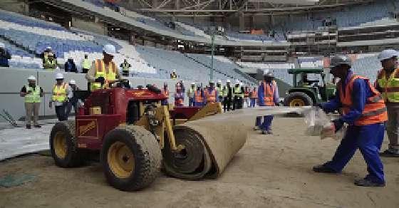 Turf laid at 2022 football World Cup's stadium