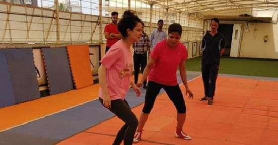 Kangana Ranaut begins Kabaddi training