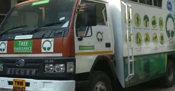 Chennai gets a unique 'Tree Ambulance' service