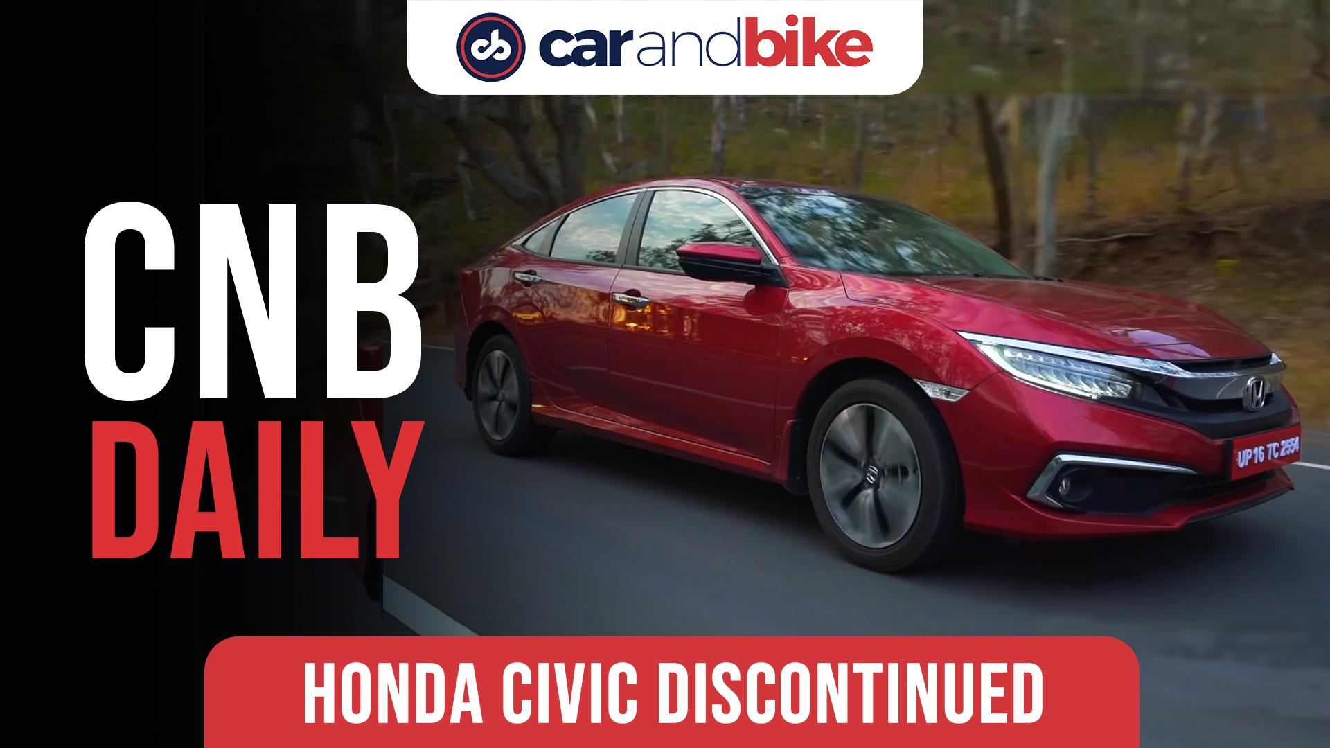 Honda To Discontinue Civic & CR-V Models In India