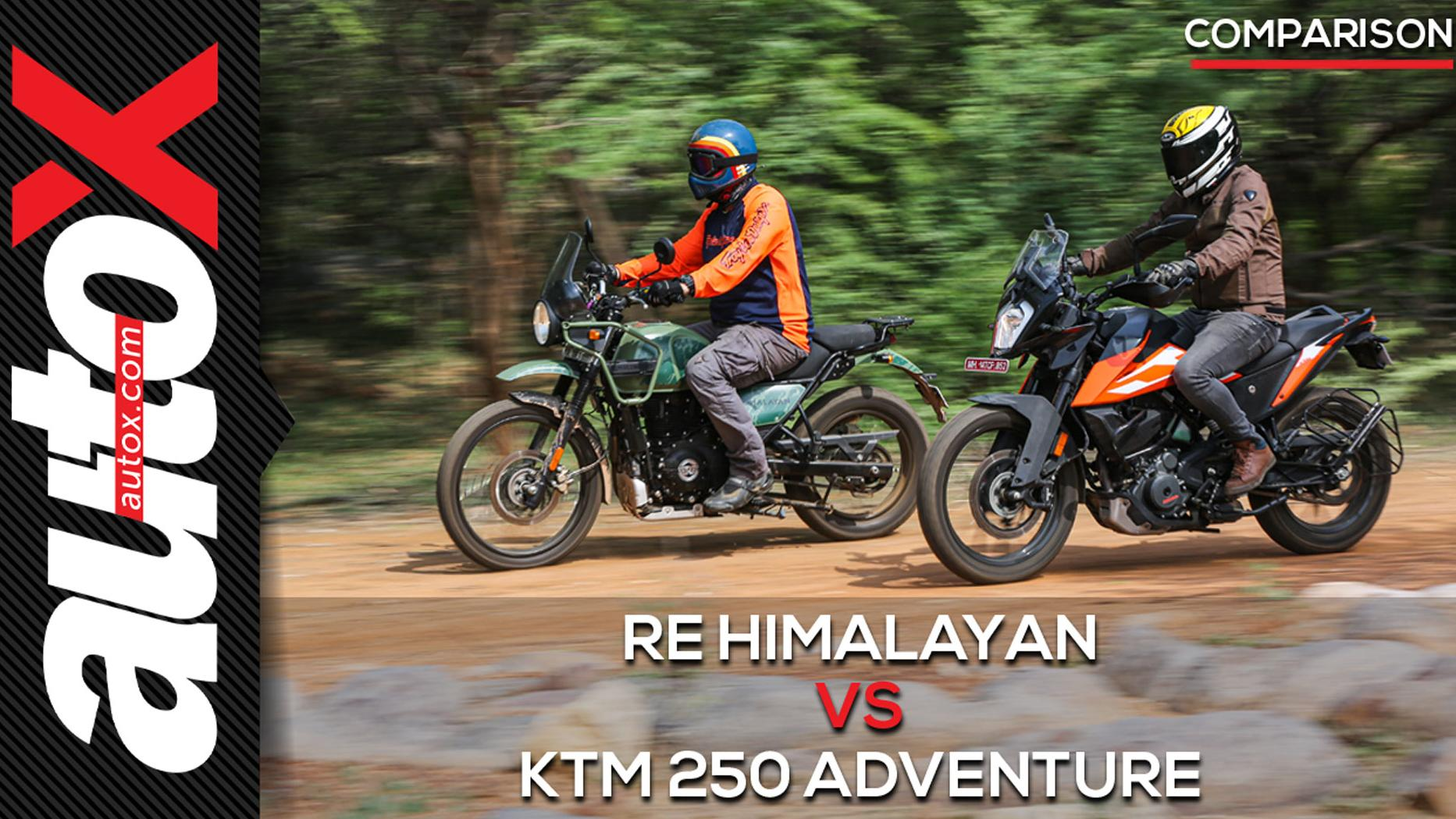 RE Himalayan vs KTM 250 Adventure: Which is the best entry-level ADV? | autoX